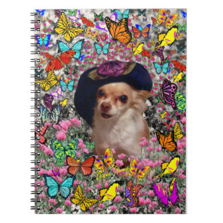 Chi Chi in Butterflies  - Chihuahua Puppy in Hat Notebook