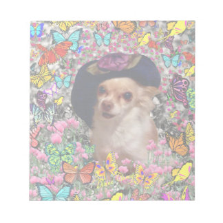 Chi Chi in Butterflies  - Chihuahua Puppy in Hat Notepad