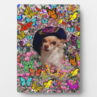 Chi Chi in Butterflies  - Chihuahua Puppy in Hat Plaque