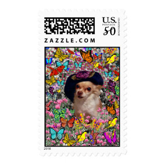 Chi Chi in Butterflies  - Chihuahua Puppy in Hat Postage