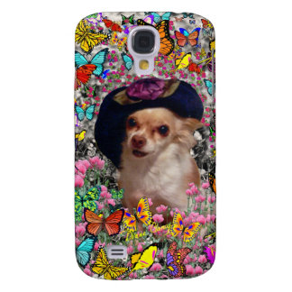 Chi Chi in Butterflies - Chihuahua Puppy in Hat Samsung Galaxy S4 Case