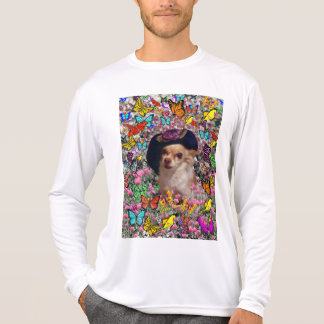 Chi Chi in Butterflies  - Chihuahua Puppy in Hat T-Shirt