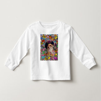 Chi Chi in Butterflies  - Chihuahua Puppy in Hat Toddler T-shirt