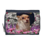 Chi Chi in Flowers, Chihuahua Puppy Dog, Cute Hat Wallets