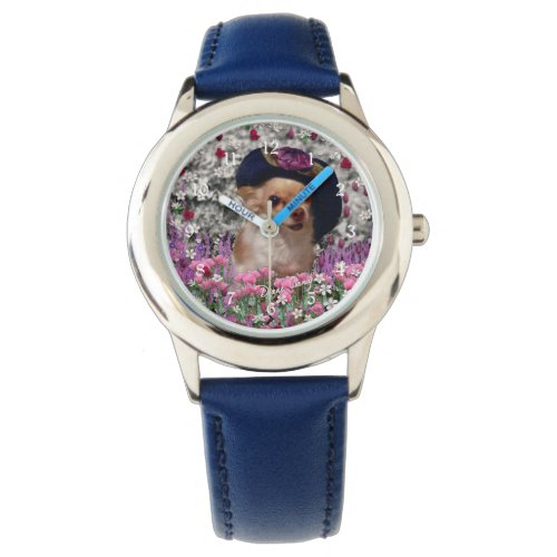 Chi Chi in Flowers, Chihuahua Puppy Dog, Cute Hat Watch