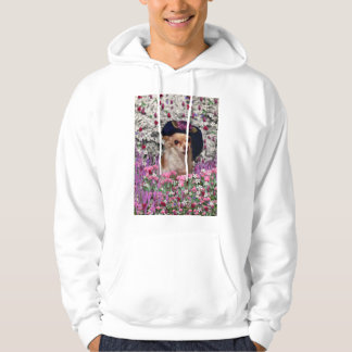Chi Chi in Flowers  - Chihuahua Puppy in Cute Hat Hoodie