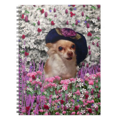 Chi Chi in Flowers  - Chihuahua Puppy in Cute Hat Notebook