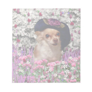 Chi Chi in Flowers  - Chihuahua Puppy in Cute Hat Notepad