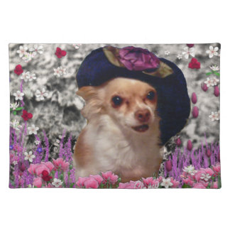 Chi Chi in Flowers  - Chihuahua Puppy in Cute Hat Placemat
