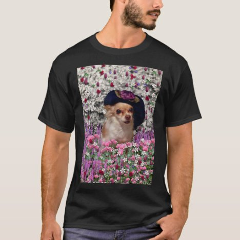 Chi Chi in Flowers  - Chihuahua Puppy in Cute Hat T-Shirt
