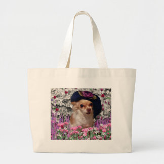 Chi Chi in Flowers Tote - Chihuahua Bags