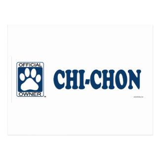 Chi-Chon Blue Postcard