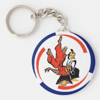 Chi in Aikido Basic Round Button Keychain