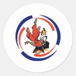 Chi in Aikido Classic Round Sticker