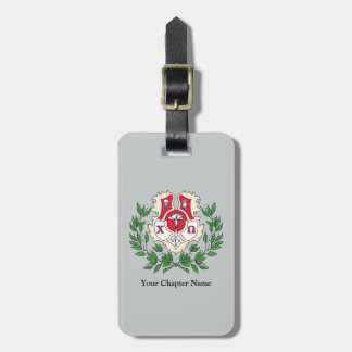 Chi Omega Crest Tag For Luggage