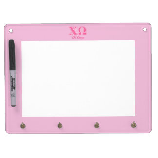 Chi Omega Pink Letters Dry-Erase Board