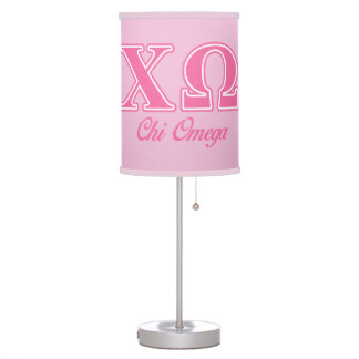 Chi Omega Pink Letters Lamps