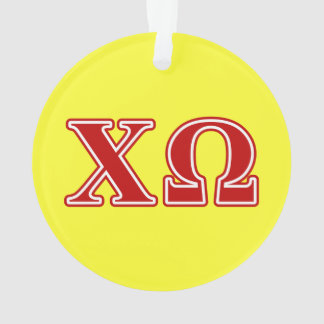 Chi Omega Red Letters