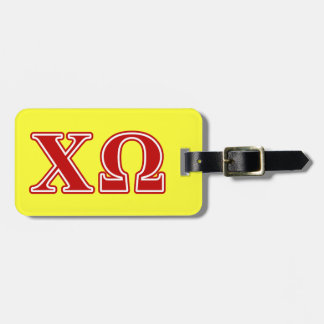 Chi Omega Red Letters Bag Tag