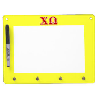 Chi Omega Red Letters Dry Erase Boards