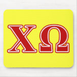 Chi Omega Red Letters Mouse Pad