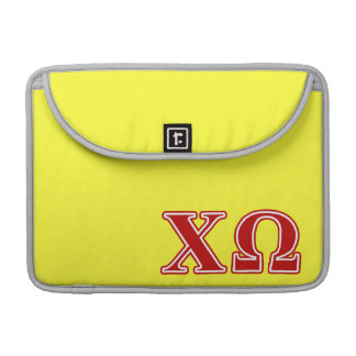 Chi Omega Red Letters Sleeve For MacBook Pro