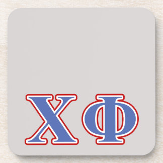 Chi Phi Blue and Red Letters Beverage Coaster