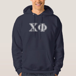 Chi Phi White and Blue Letters Hoodie