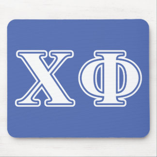 Chi Phi White and Blue Letters Mouse Pads
