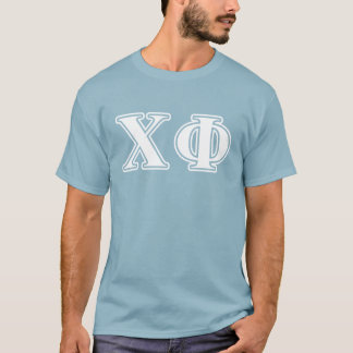 Chi Phi White and Blue Letters T-Shirt