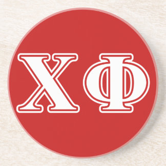 Chi Phi White Letters Coaster