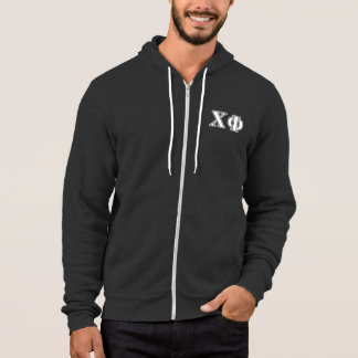 Chi Phi White Letters Hoodie