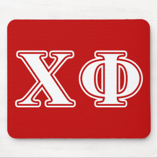 Chi Phi White Letters Mouse Pads