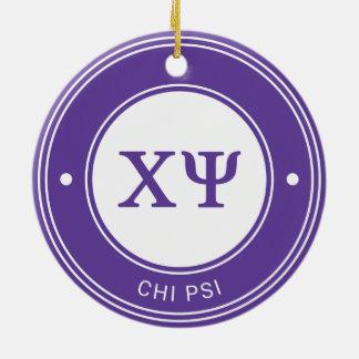 Chi Psi | Badge Ceramic Ornament