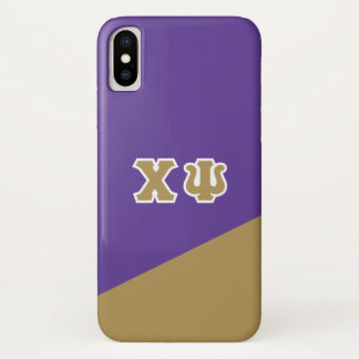 Chi Psi   Greek Letters iPhone X Case