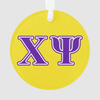 Chi Psi Purple Letters