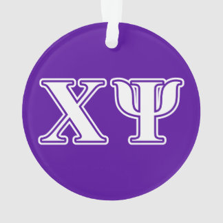 Chi Psi White and Purple Letters