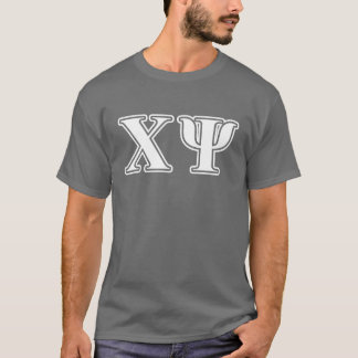 Chi Psi White Letters T-Shirt