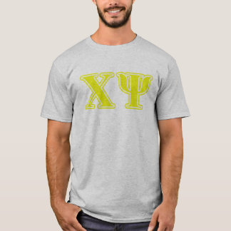 Chi Psi Yellow Letters T-Shirt