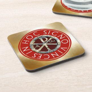 Chi-Rho Beverage Coaster