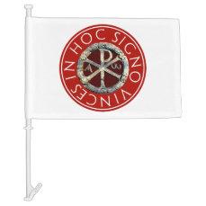 Chi-Rho Car Flag