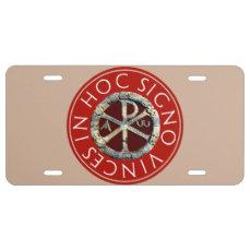 Chi-Rho License Plate