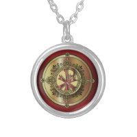 Chi-RhoMonogram ~ Christian Symbol P & X Silver Plated Necklace