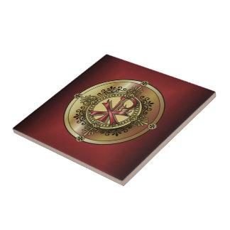 Chi-RhoMonogram ~ Christian Symbol P & X Ceramic Tile