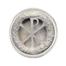 Chi Rho Monogram Lapel Pin