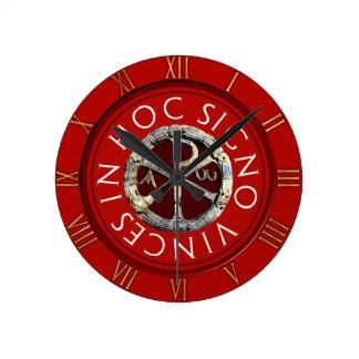 Chi-Rho Round Clock