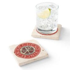 Chi-Rho Stone Coaster