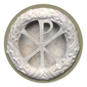 Chi-Rho - the Monogram of Christ Classic Round Sticker