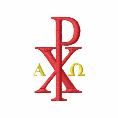 Chi Rho with Alpha and Omega