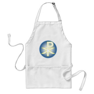 Chi Ro Christian Adult Apron
